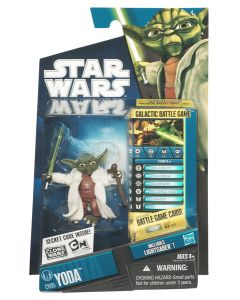 2010 Clone Wars Carded Yoda (Re-Issue)