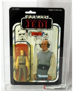 1984 Kenner Star Wars ROTJ 77 Back-A Lobot AFA 75+ Y-EX+/NM #11634136