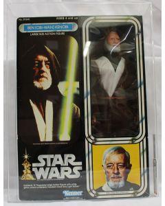 "Vintage Star Wars Vintage Star Wars 12"" Boxed Ben Kenobi Action Figure AFA 80 (B80 W85 F85) #12993510"