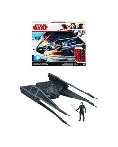 Star Wars The Last Jedi Kylo Ren's TIE Silencer Vehicle w/ Kylo Ren (TIE Pilot) Action Figure