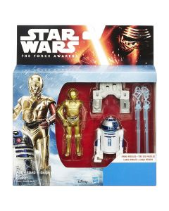 """Star Wars The Force Awakens 3.75"""" Boxed Mission 2 Pack-C-3PO & R2-D2"""