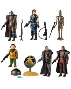 Star Wars The Mandalorian The Retro Collection Action Figures Wave 1 Set of 7