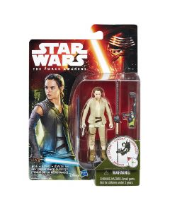 """Star Wars The Force Awakens 3.75"""" Carded Rey Resistance Outfit"""