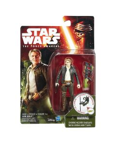 """Star Wars The Force Awakens 3.75"""" Carded Han Solo"""