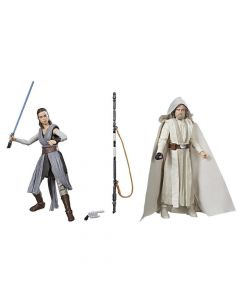 Black Series The Last Jedi Boxed 6 Inch Rey (Jedi Training) and (Luke Jedi) Master 2- Pack (SDCC 2017)