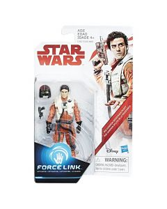 "Star Wars The Last Jedi 3.75"" Carded Poe Dameron (Resistance Pilot)"