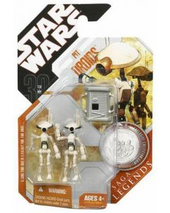 30th Anniversary Carded Saga Legends Pit Droids (white/gray)