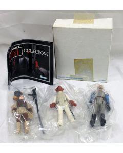 Vintage Star Wars ROTJ 3-Pack Kenner Mailer 48-62373 Admiral Ackbar, Leia Boushh,  General Madine // C8.5 w/ C8 Mailer Box
