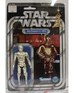 Star Wars 1978 Kenner Vintage  Carded 12-Back B C-3PO AFA 85 NM+ #18090664