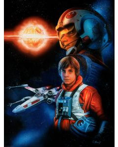 "Licensed Artwork ""Trust the Force"" - Lithograph - (by Claudio Aboy)"