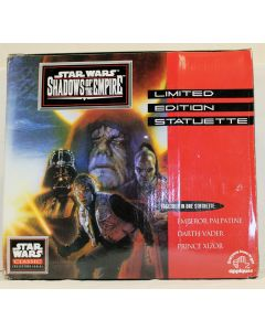 Star Wars POTF2 Applause Shadows Of The Empire Statuette Emperor, Darth Vader and Prince Xizor MIB