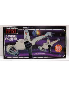 Vintage Star Wars ROTJ Vehicles Boxed B-Wing Fighter - MIB C6 (Decals Unapplied)
