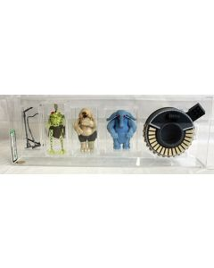 Star Wars Vintage Beast Loose Max Rebo Band 3-Figure Set Silver Mics and Black Flute AFA U85+ #11068276