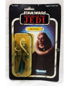 Vintage Star Wars ROTJ Carded Bib Fortuna Action Figure // C5 Yellow Bubble (Small Tear on Card, Tape on Card)