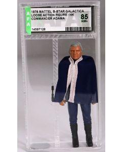 ***Mattel Vintage Battlestar Galactica Commander Adama AFA 85 NM+ #14597126***