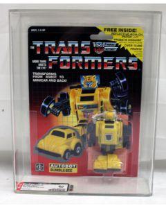 1985 Hasbro Vintage Transformers G1 Series 2 Minicar Bumblebee (Yellow w/ Patch) AFA 80 (C85 B80 F90)