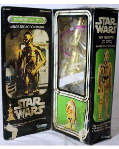 "Vintage Star Wars 12"" Boxed C-3PO Action Figure // C7.5 w/ C2 box"