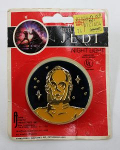 Vintage Star Wars ROTJ Accessories Carded ROTJ C-3PO Night Light - C5