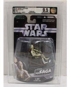 2006 Hasbro Star Wars Saga 2 Carded C-3PO with Ewok Throne - AFA#25165124