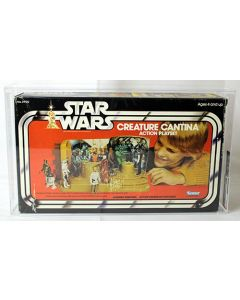 Vintage Star Wars Boxed SW Playset Creature Cantina AFA 75 #11176725