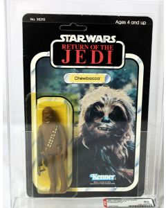 Vintage Kenner Star Wars ROTJ 77 Back-A Chewbacca AFA 80 Y-NM #15637829