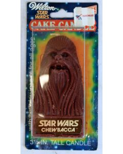 Vintage Star Wars Chewbacca 1980 Wilton Cake Candle, Mint on Card C8