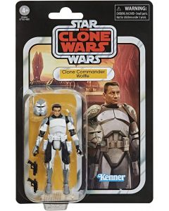 "Star Wars Clone Wars 2020 Vintage-Style Clone Commander Wolffe 3-3/4"" Action Figure"