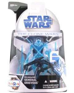 2008 Clone Wars Exclusives Carded General Grievous (Holographic) C-9