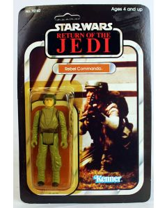 Vintage Kenner Star Wars Carded ROTJ Rebel Commando Action Figure // C8Y Unpunched