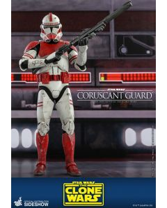 """Sideshow Hot Toys Star Wars 12"""" Boxed Coruscant Guard Clone Trooper"""