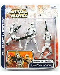 Clone Wars Multi-Pack Carded Clone Trooper Army (White Clone Trooper) C-8/9