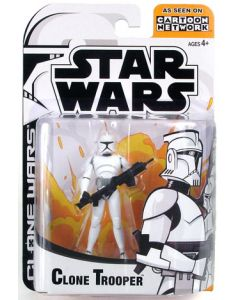 Clone Wars Carded Animated Clone Trooper (White) C-9