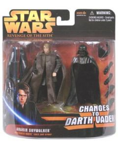 Revenge of the Sith Deluxe Carded Anakin Skywalker (Changes to Darth Vader)