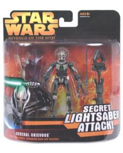 Revenge of the Sith Deluxe Carded General Grievous (Secret Lightsaber Attack)
