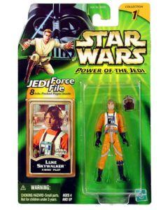 """POTJ 3 3/4"""" Carded Luke Skywalker X-Wing Pilot C-9"""