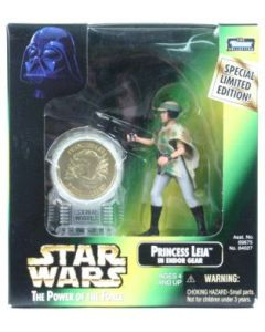 Power of the Force 2 Millennium Minted Coin Leia Endor