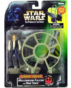 Power of the Force 2 Deluxe Han with Gunner Station