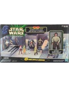 Power of the Force 2 Jabba's Palace with Han Carbonite Playset