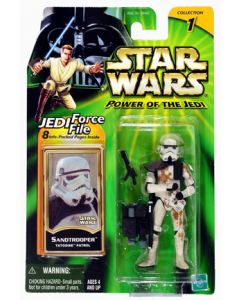 "Power of the Jedi 3 3/4"" carded Sandtrooper (Tatooine Patrol)"