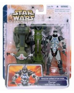 Clone Wars Deluxe Carded Durge with Swoop Bike