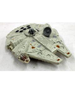 Vintage Star Wars Loose Die Cast Millennium Falcon Vehicle Action Figure // C-8