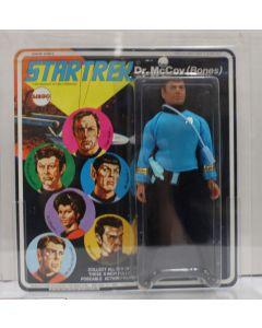 """Mego Star Trek 8"""" Carded Series 2 Dr. McCoy (Bones) White Name AFA 85 NM+ #11865405"""