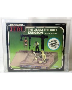 Vintage Star Wars Boxed ROTJ Playset Jabba the Hutt's Dungeon w/ COA AFA 70+ Qualified #16680273