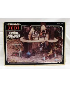 Vintage Star Wars Boxed Ewok Village Playset MIB C7.5 (Decals Unapplied)