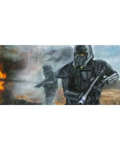 """Licensed Artwork """"Hostile Extraction"""" - Giclee on Canvas- (by Greg Lipton)"""