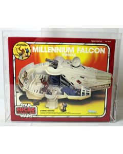 Vintage Star Wars Boxed Micro Collection Vehicle Millennium Falcon AFA 85 #11711680