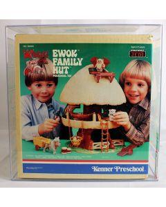 Star Wars Vintage Kenner Preschool Boxed ROTJ Ewok Family Hut Ewok Fire Cart AFA 85 NM+