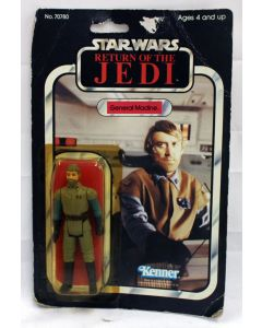 Vintage Star Wars ROTJ Carded General Madine Action Figure // C4 Yellow Bubble (Card Tear, Bubble Dent)