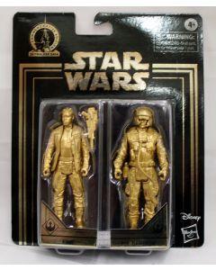 Star Wars Gold Commemorative Edition Finn & Poe Dameron 2PK Action Figures
