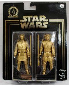 Star Wars Gold Commemorative Edition Obi-Wan Kenobi & Anakin Skywalker 2PK Action Figures